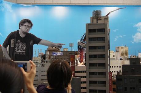 巨神兵、東京に現るのジオラマ。樋口カントク東京に現る!