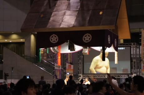 ミヤーマさんが観覧した超大相撲!若荒雄VS高見盛の相撲版OB戦!