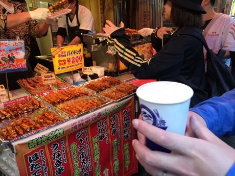 海鮮串焼きバイキング200円!