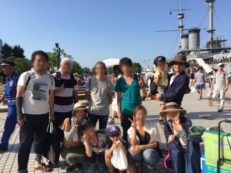 最後は記念艦三笠前で記念写真!今年もお疲れ様でした!