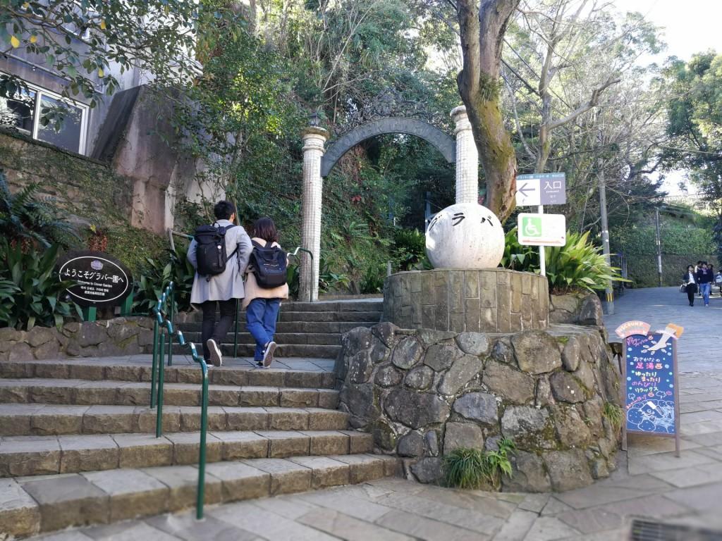 グラバー邸の入り口