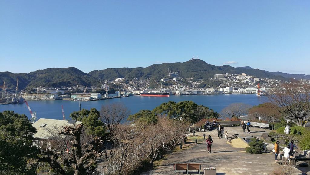 グラバー邸から見える長崎港