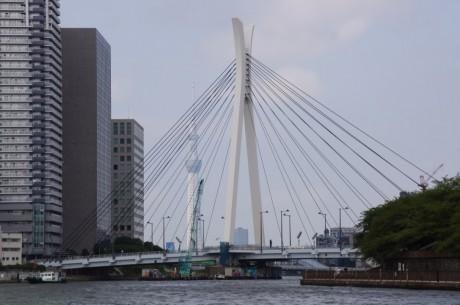 中央大橋は、フランスのデザイン会社に設計を依頼しており、主塔および欄干部分に日本の「兜」を意識した特徴的な意匠が施されている。